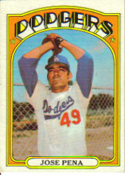 1972 Topps Baseball Cards      322     Jose Pena